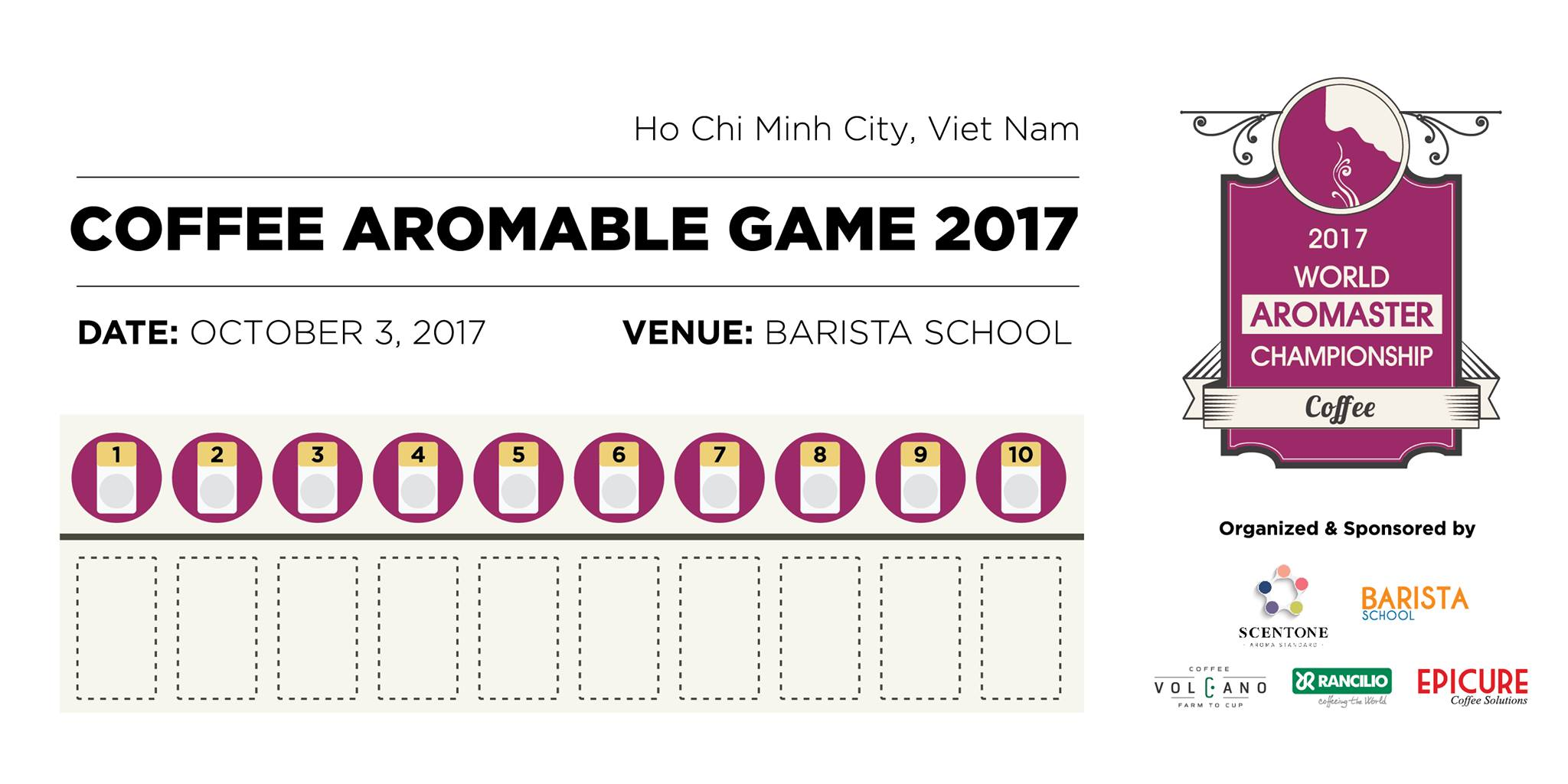 Coffee Aromable Game 2017